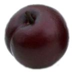Plump logo is a plum